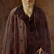 Portrait Of Charles Darwin Print by John Collier