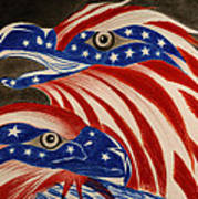 Proud Of Eagle Print by Jalal Gilani