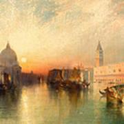 View Of Venice Print by Thomas Moran