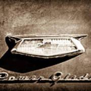 1954 Chevrolet Power Glide Emblem Print by Jill Reger