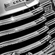 1956 Chevrolet 3100 Pickup Truck Grille Emblem Print by Jill Reger