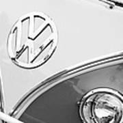 1960 Volkswagen Vw 23 Window Microbus Emblem Print by Jill Reger