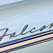 1963 Ford Falcon Futura Convertible  Emblem Print by Jill Reger