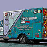 Alameda County Medical Support Vehicle Print by Samuel Sheats