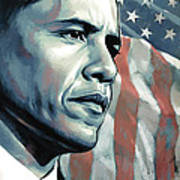 Barack Obama Artwork 2 Print by Sheraz A