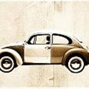 Beetle Car Print by David Ridley