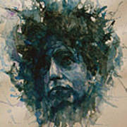 Bob Dylan Print by Paul Lovering