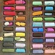 Box Of Pastels Print by Bernard Jaubert