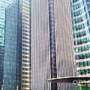 Business Skyscrapers Modern Architecture Print by Michal Bednarek