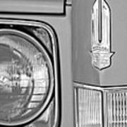 Cadillac Headlight Emblem Print by Jill Reger