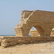 Caesarea Israel Ancient Roman City Port Print by Robert Birkenes