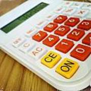 Calculator Print by Les Cunliffe