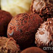 Chocolate Truffles Print by Elena Elisseeva