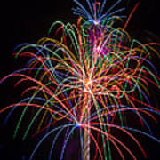 Colorful Fireworks Print by Garry Gay