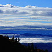 Courthouse Valley Sea Of Clouds Print by Michael Weeks