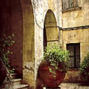 Courtyard In Capri Print by Julie Palencia