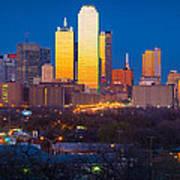 Dallas Skyline Print by Inge Johnsson