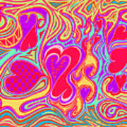 Double Broken Heart Print by Kenneth James