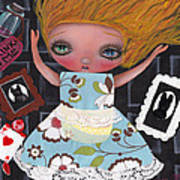 Down The Rabbit Hole Print by  Abril Andrade Griffith