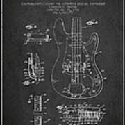 Fender Guitar Patent Drawing From 1961 Print by Aged Pixel