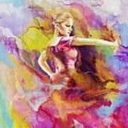 Flamenco Dancer Print by Catf