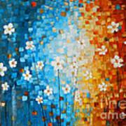 Flowers After Rain Print by Denisa Laura Doltu