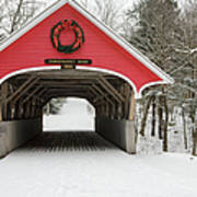 Flume Covered Bridge - White Mountains New Hampshire Usa Print by Erin Paul Donovan