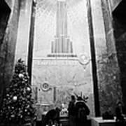 Foyer Of The Empire State Building New York City Usa Print by Joe Fox