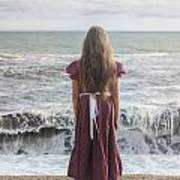 Girl On Beach Print by Joana Kruse