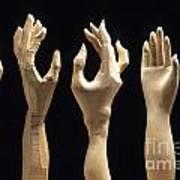 Hands Of Wood Puppets Print by Bernard Jaubert