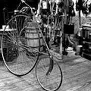 High Wheel 'penny-farthing' Bike Print by Christine Till