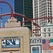 Las Vegas - New York New York Casino - 12128 Print by DC Photographer