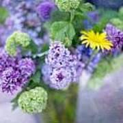 Lilacs In Vase 3 Print by Rebecca Cozart