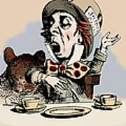 Mad Hatter Color Print by John Tenniel