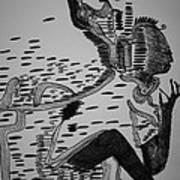 Mbakumba Dance - Zimbabwe Print by Gloria Ssali
