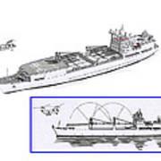 Merchant Marine Conceptual Drawing Print by Jack Pumphrey