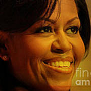 Michelle Obama Print by Marvin Blaine