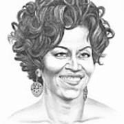 Michelle Obama Print by Murphy Elliott