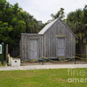 Old Post Office In Melbourne Beach Print by Allan  Hughes