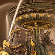 Paris Fountain Print by Brian Jannsen