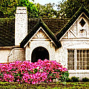 Pink Azaleas - Old Southern Charm By Sharon Cummings Print by Sharon Cummings