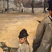 Place De La Concorde Print by Edgar Degas