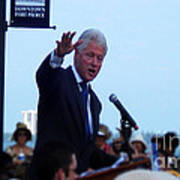 President Clinton In Fort Pierce Print by Megan Dirsa-DuBois