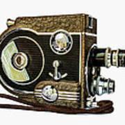Revere 8 Movie Camera Print by Jon Woodhams