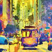 San Francisco Trams 12 Print by Yury Malkov