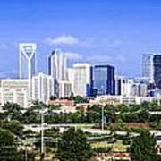 Skyline Of Uptown Charlotte North Carolina Print by Alex Grichenko