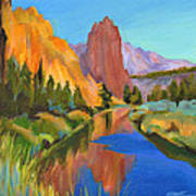 Smith Rock Canyon Print by Tanya Filichkin