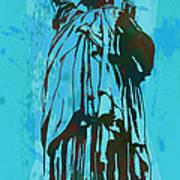 Statue Liberty - Pop Stylised Art Poster Print by Kim Wang