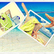 Summer Postcards Print by Amanda Elwell