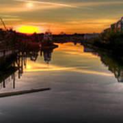 Sunrise On The Petaluma River Print by Bill Gallagher